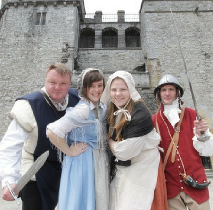 Meet the time travellers at King John's Castle