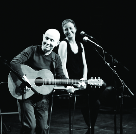 Kieran Goss with guest Annie Kinsella at Hook Lighthouse