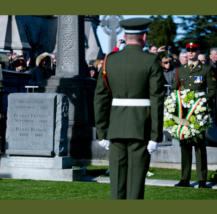 Annual Easter Sunday morning 1916 Rising Commemoration at Glasnevin Cemetery