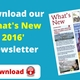 What's New Newsletter 2016  (PDF Version)