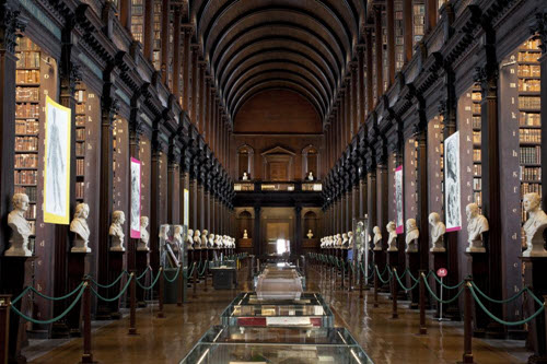 Trinity College Old Library and Book of Kells Exhibition